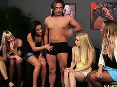brunette cfnm group sex blondes blowjobs