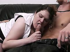 big tits lingerie blowjobs brunette cumshot