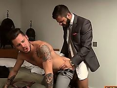 cumshot gays masturbate uniform assfucked