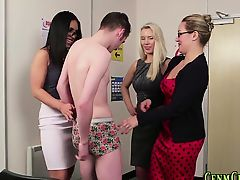 brunette cfnm group sex handjob blondes