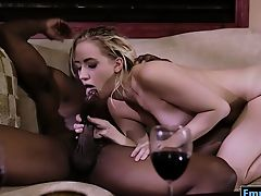 ass hairy interracial lick blondes