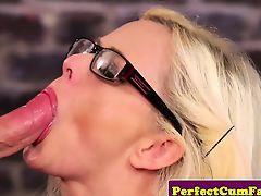 hardcore pov blondes blowjobs cumshot