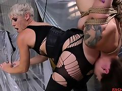 bdsm fetish strapon blondes lesbians