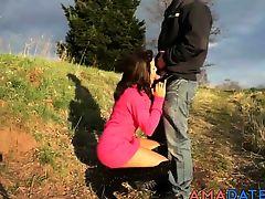 amateur brunette german outdoor blowjobs