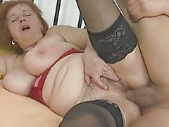 busty chubby mature stockings sucks