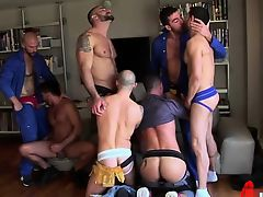 blowjobs cumshot gays group sex foursome