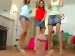 CFNM Girls playing with Penis