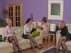 femdom spanking stockings