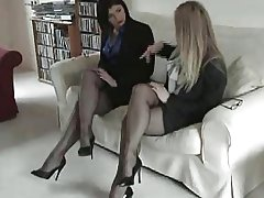 black nylon stockings foot fetish