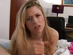 handjob whore cumshot