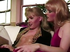 gorgeous blond brunette tranny swapping