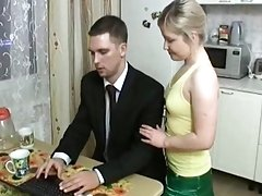 Sweet cutie fucked in the kitchen