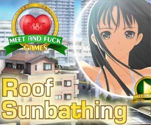 roof sunbathing meet neighbour hot