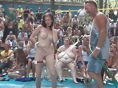 huge party outdoor nasty