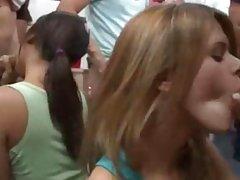 teen girls playing gagging dick