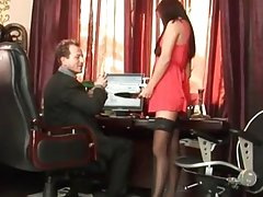 sexy secretary gets cunt hammered