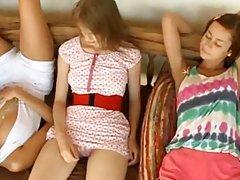 three teenagers masturbating