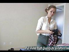 riley teen babe masturbating video
