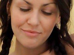 horny movie brunet babe clit