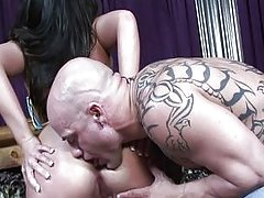 couple vaginal sex masturbation oral sex brunette