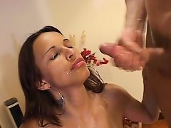 brazilian facials cumshot brunette
