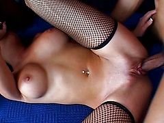 assfucked pussy shaved threesome stocking