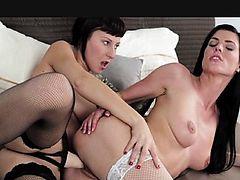 lingerie asian lesbians stocking black