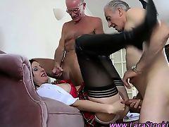 homemade european ass threesome stocking