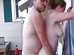 boss fucks wife outdoor