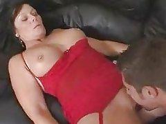 hot busty brunette mom stepson