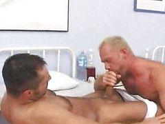 brunette gays masturbate doctor oral sex
