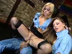 blondes cop police threesome