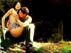 teen outdoor forest fuck hardcore sex