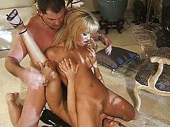 vintage asian blondes brunette threesome