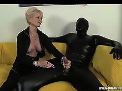 femdom fetish handjob latex blondes