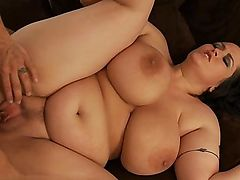 italian stocking fucking chubby couple