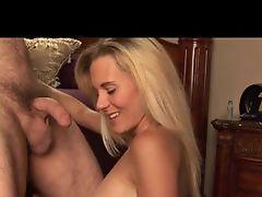 Blonde milf sucks that cock eggs deep