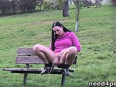 brunette fetish outdoor public voyeur