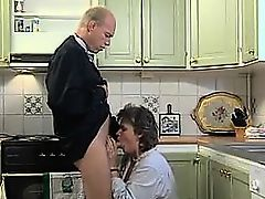brunette granny blowjobs stocking fucking