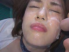 teens asian public cumshot facials