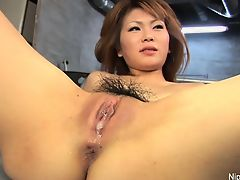 asian creampie fingering hairy babes