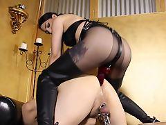 anal femdom strapon mistress slave