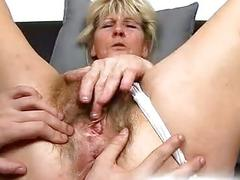 hairy masturbation mature blonde bush