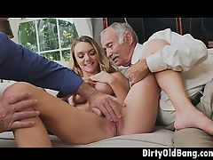 ass fingering old+young threesome blondes