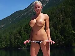 extremely hot muscle woman screwed on a boat