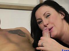 brunette european blowjobs lingerie matures
