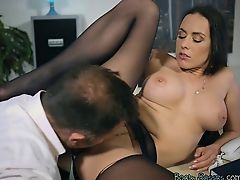 brunette hardcore lick big tits blowjobs
